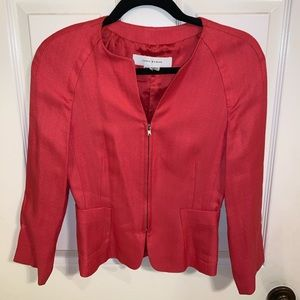 Zara Coral Zip Up Blazer